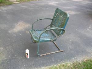 Vintage Metal Rocking Chair